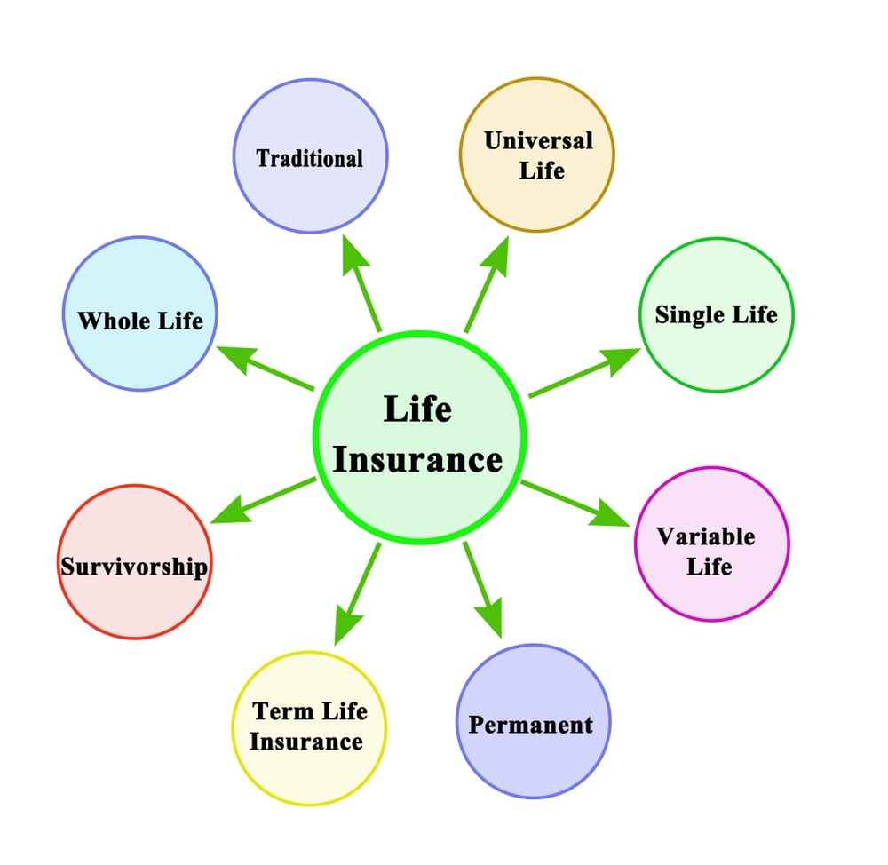 the main types of life insurance are universal, whole, and term